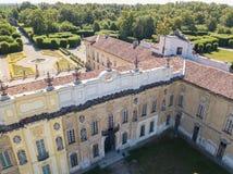 别墅Arconati, Castellazzo,博拉泰,米兰,意大利 别墅Arconati鸟瞰图  库存照片