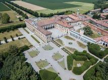 别墅Arconati, Castellazzo,博拉泰,米兰,意大利 鸟瞰图 别墅Arconati, Castellazzo,博拉泰,米兰,意大利 图库摄影