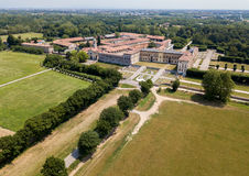 别墅Arconati, Castellazzo,博拉泰,米兰,意大利 鸟瞰图 别墅Arconati, Castellazzo,博拉泰,米兰,意大利 库存图片