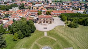 别墅Bagatti Valsecchi,别墅,鸟瞰图, 18世纪,意大利别墅,瓦雷多,蒙扎Brianza,伦巴第意大利 免版税库存图片
