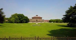 别墅Bagatti Valsecchi,别墅,鸟瞰图, 18世纪,意大利别墅,瓦雷多,蒙扎Brianza,伦巴第意大利 股票录像