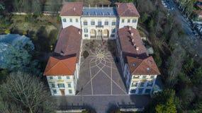 别墅Borromeo,塞纳戈,意大利 库存图片