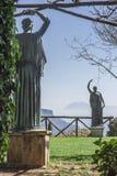 别墅Cimbrone,阿马尔菲海岸,意大利, Europ庭院的看法  库存照片
