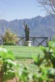 别墅Cimbrone,阿马尔菲海岸,意大利, Europ庭院的看法  免版税库存照片