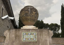别墅d `的Este瓦片标志 库存图片