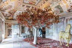 别墅D'Este内部在Tivoli,意大利 免版税库存图片