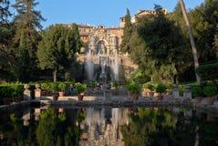 别墅d'Este的视图在Tivoli的 库存图片