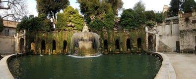 别墅d ` Este, Tivoli庭院,意大利 免版税库存照片
