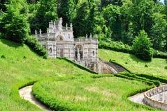 别墅della雷日纳在都灵,山麓。意大利 库存照片