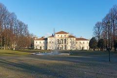 别墅della Tesoriera公园的看法在都灵,山麓 库存图片