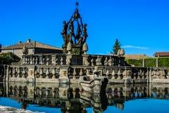 别墅Lante喷泉 免版税库存照片