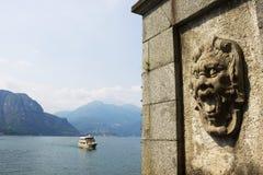 别墅Melzi,贝拉焦,科莫湖,意大利的墙壁 免版税库存图片
