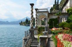 从别墅Monastero的科莫湖。意大利 图库摄影