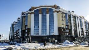 别尔哥罗德州地区,别尔哥罗德州,东部,Kharkovskaya st,3住宅复合体'巴黎的位于别尔哥罗德州的中心b 库存照片