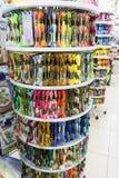 别尔哥罗德州,俄罗斯- 2017年12月11日:店面`缝合和刺绣` 在这样商店总是另外p的一种巨大的选择 免版税库存照片