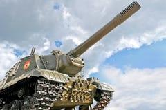 别尔哥罗德州 在一个垫座的坦克在K附近博物馆dioramy争斗  免版税图库摄影