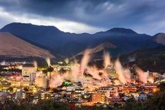 别府日本温泉城 免版税图库摄影