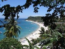 别的观看白色海滩- Puerto加莱拉角 库存照片