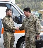 别的reanimobile为乌克兰military_5 免版税库存图片