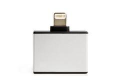 30别针和微USB对8个别针适配器 免版税库存照片