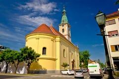 别洛瓦尔广场和教会镇  免版税库存照片