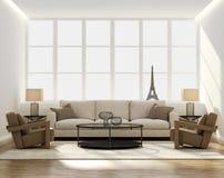 别致的经典典雅的豪华客厅 免版税库存图片