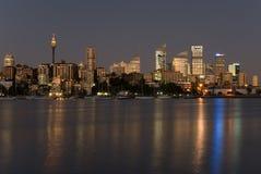 刮板天空悉尼 免版税库存照片