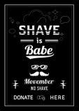 刮脸是宝贝Movember海报设计 库存例证