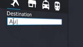 到奥斯汀网上旅行的买的飞机票到美国 向量例证