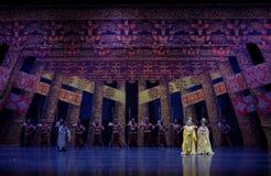 到家庭尾巴帷幕的公主` s参观:`丝绸之路` -史诗舞蹈戏曲`丝绸公主` 库存照片