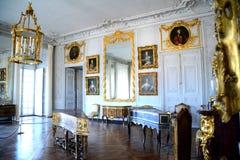 到小的Trianon,凡尔赛的参观 免版税库存图片
