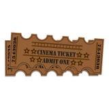 到戏院的两张票 库存照片