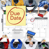 到期日最后期限付款单重要通知概念 免版税库存照片