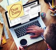 到期日最后期限付款单重要通知概念 免版税库存图片