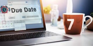 到期日议程任命日历概念 免版税库存图片