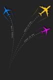 到来和离开定期航班 免版税库存图片
