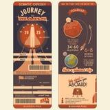 到火星登舱牌的旅途 免版税库存图片