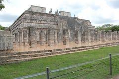 到牺牲执行的墨西哥玛雅艺术金字塔洞的旅行 库存图片