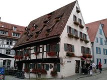 到达乌尔姆,德国的游人 免版税库存图片