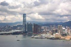 000 19 243 456 2012到达了驳船运载离去的地区前面香港的企业货物可以百万r s有些吨船年 A r 中国- 2017年9月22日:ICC -国际性组织 库存照片