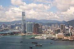 000 19 243 456 2012到达了驳船运载离去的地区前面香港的企业货物可以百万r s有些吨船年 A r 中国- 2017年9月22日:ICC -国际性组织 免版税库存图片