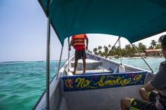 到达在圣布拉斯海岛加勒比天堂  库存图片
