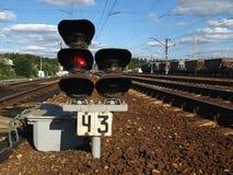 到达培训的平台铁路 库存图片