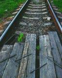 到达培训的平台铁路 图库摄影