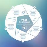 到达天空的企业概念金黄回归键所有权 圈子难题Infographic 周期图、图表、介绍和圆的图的模板 免版税库存图片