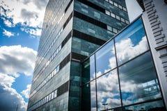 到达天空-欧登塞,丹麦 免版税库存图片