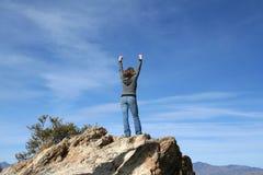 到达山顶 免版税图库摄影