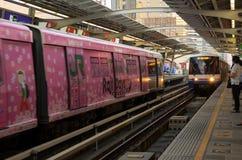 到达驻地的BTS火车 库存照片