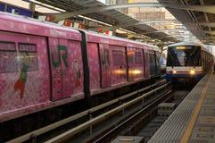 到达驻地的BTS火车 图库摄影