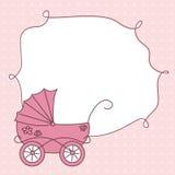 到达婴孩看板卡女孩 免版税库存照片